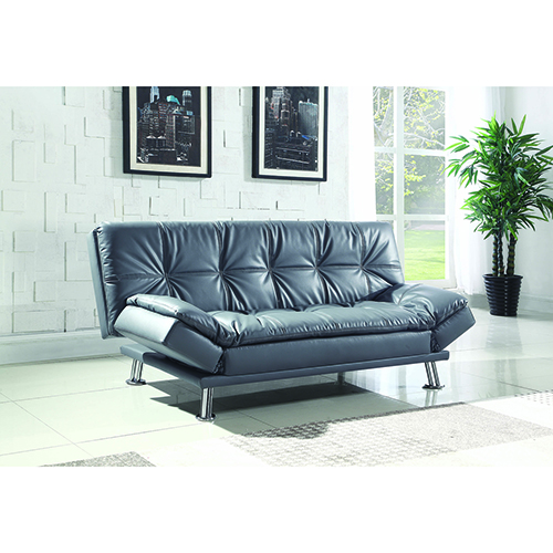 Grey Sofa Bed with Adjustable Armrests