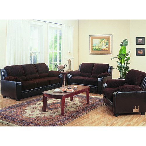 Chocolate Two-Piece Living Room Set