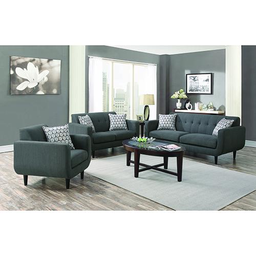Grey Tufted Back Sofa