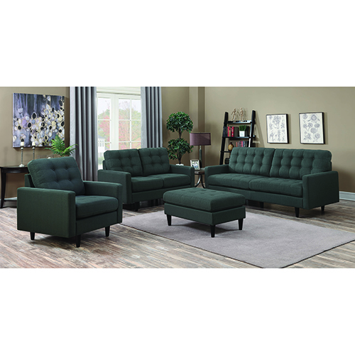 Charcoal Sofa with Tufted Seat and Back Cushions