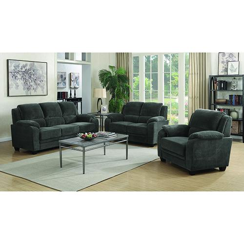 Black Upholstered Sofa