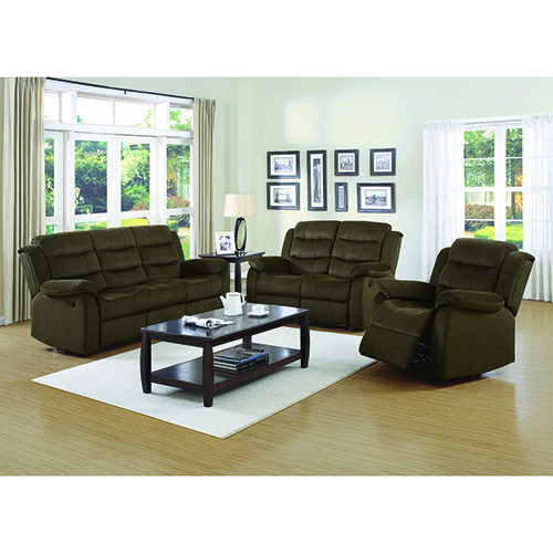 Chocolate Motion Loveseat with Pillow Arms