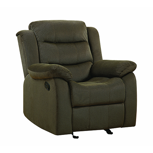 Chocolate Upholstered Glider Recliner