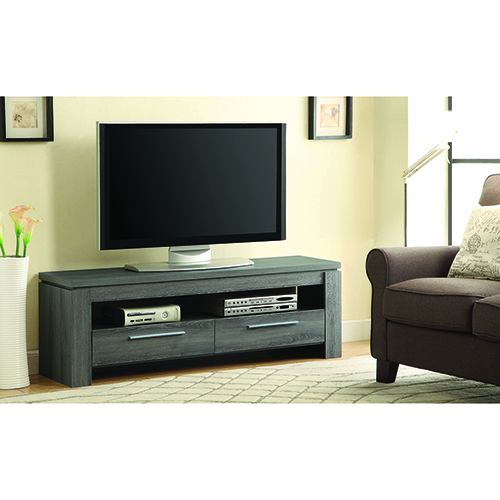 Weathered Grey Two-Drawer TV Console