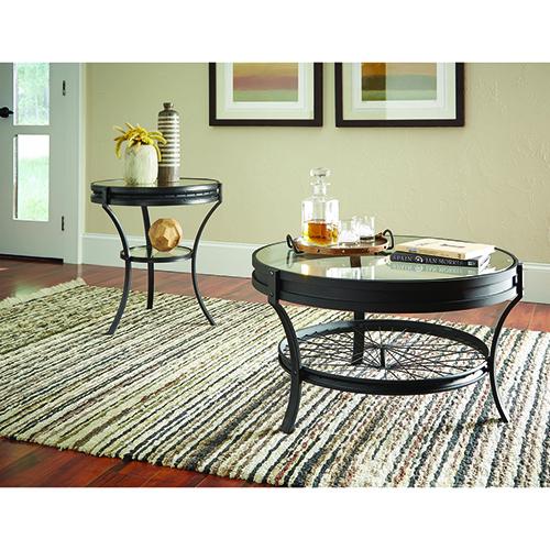 Coaster Furniture Black Round End Table
