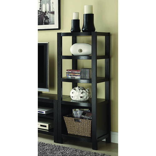 Cappuccino 4-Tier Curved Front Media Tower