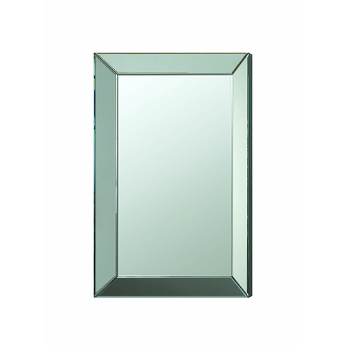 Accents Rectangular Wall Mirror with Mirrored Frame