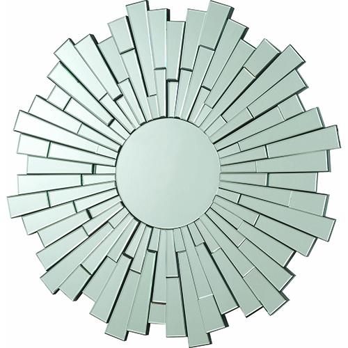 Accents Flower Sun Decorative Frameless Wall Mirror