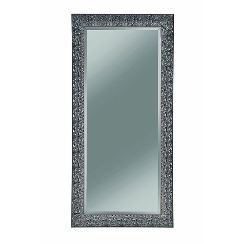 Black Accent Mirror with Colored Mosaic Frame