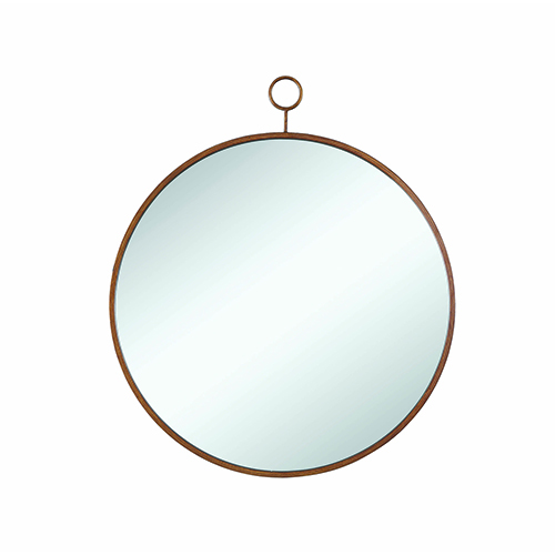 Gold Accents Circular Mirror