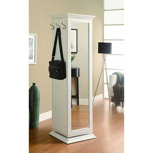 Coaster Furniture White Swivel Accent Cabinet with Cork Board