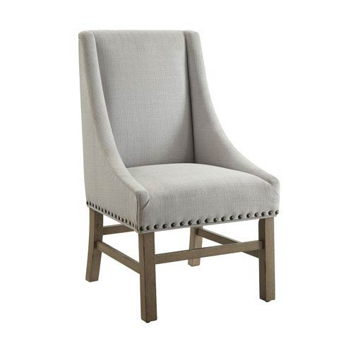 Florence Light Grey Side Chair, Set of Two