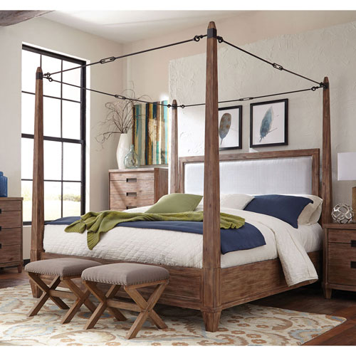 Madeleine Smoky Acacia Buckle Canopy Queen Bed