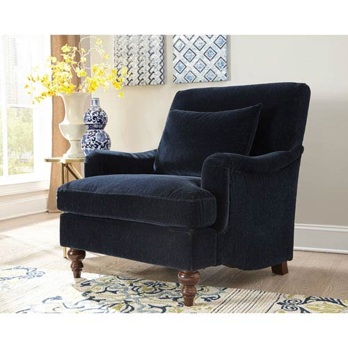Donny Osmond Home Midnight Blue Accent Chair 902899 | Bellacor