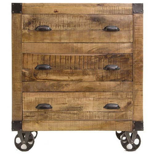 Natural Three Drawer Accent Cabinet