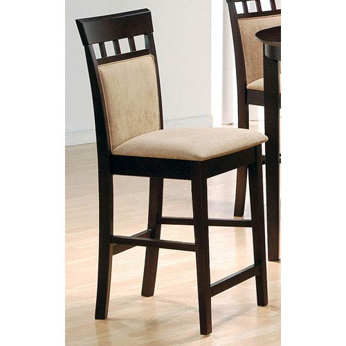 Coaster Furniture 24 Inch Upholstered Panel Back Bar Stool With Fabric Seat Set Of 2