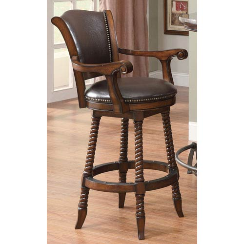 Surprising Cherry Traditional 29 Inch Bar Stool Squirreltailoven Fun Painted Chair Ideas Images Squirreltailovenorg