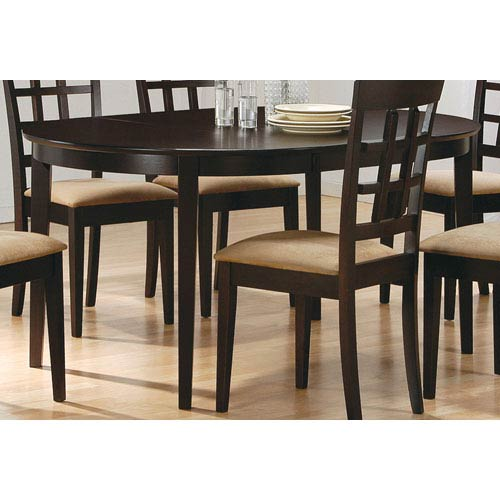 Coaster Furniture Cappuccino Oval Dining Leg Table