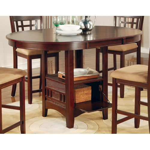 Coaster Furniture Lavon Dark Cherry Counter Height Table