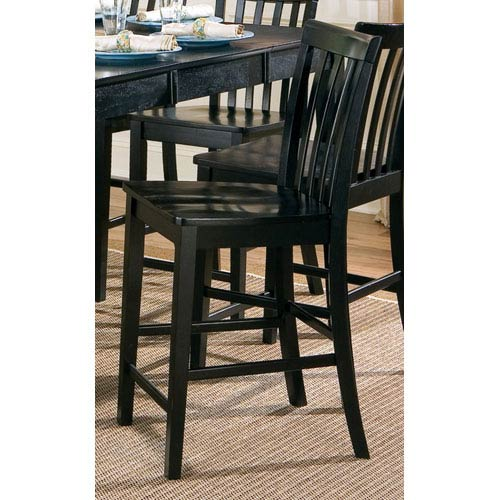Coaster Furniture Pines Black Counter Height Slat Back Chair