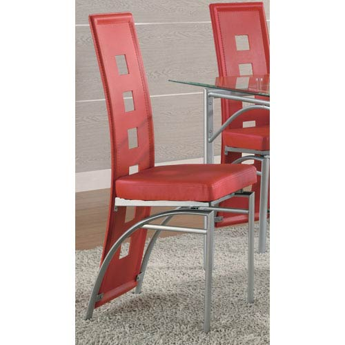 Los Feliz Red Dining Chair, Set of 2
