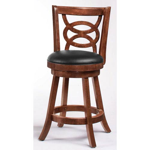Coaster Furniture Cappuccino 24 Inch Swivel Bar Stool With