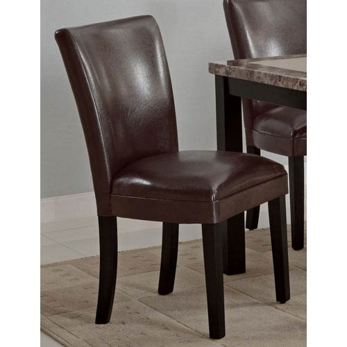 Coaster Furniture Carter Brown Upholstered Dining Side Chair, Set of 2