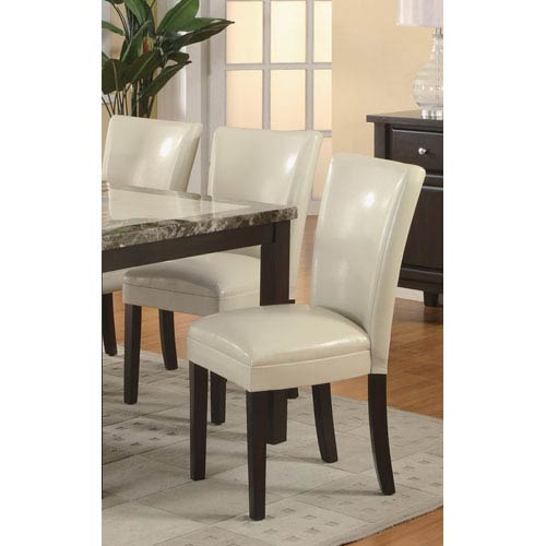 Carter Cream Upholstered Dining Side Chair, Set of 2