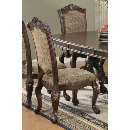 Andrea Traditional Upholstered Side Chair, Set of 2