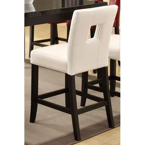 Coaster Furniture Newbridge White Counter Height Stool with Vinyl Cushion, Set of 2