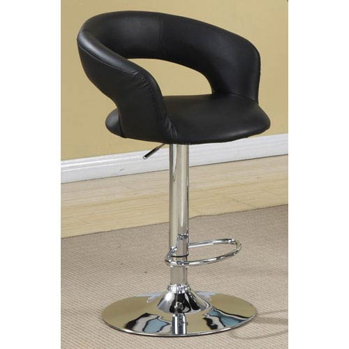 Coaster Furniture 29-Inch Black Upholstered Bar Chair with Adjustable Height