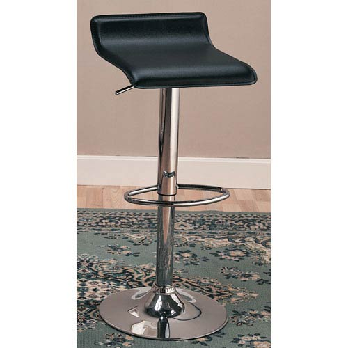 Coaster Furniture 29-Inch Black Upholstered Bar Chair with Adjustable Height, Set of 2