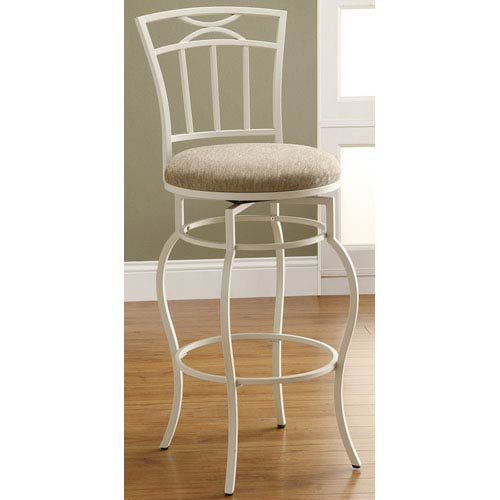 Astounding Coaster Furniture 29 Inch White Metal Bar Stool With Upholstered Seat Gmtry Best Dining Table And Chair Ideas Images Gmtryco