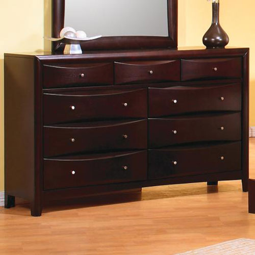 Phoenix Contemporary Nine Drawer Dresser
