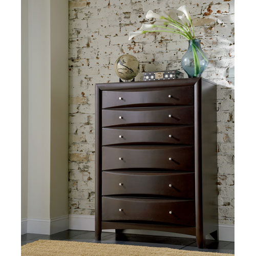 Coaster Furniture Phoenix Contemporary Six Drawer Chest