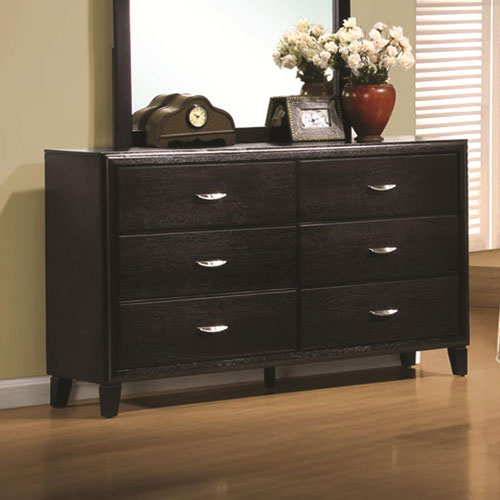Nacey Stained Black Six Drawer Dresser