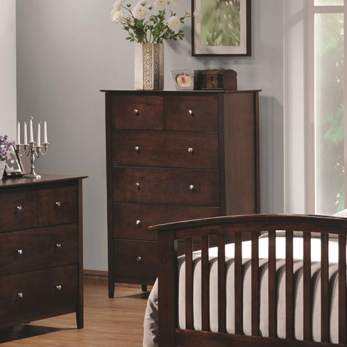 Tia Vertical Chest with Five Drawers
