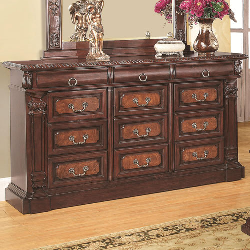 Grand Prado Dresser with Three Felt-Lined Drawers and Nine Drawers