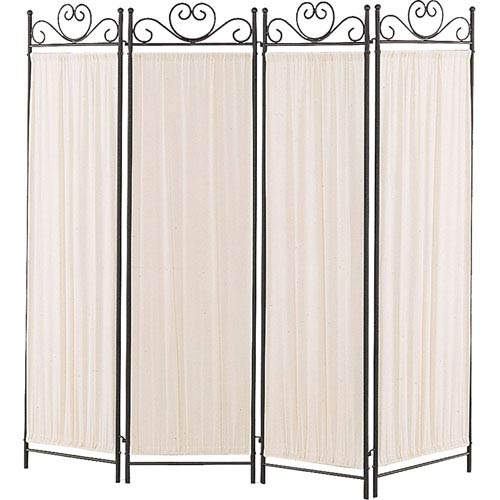 Black and Gold Butterfly Folding Screen
