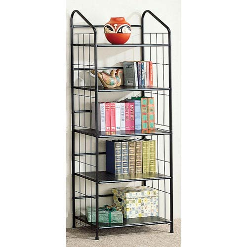 Five Tier Casual Metal Bookcase