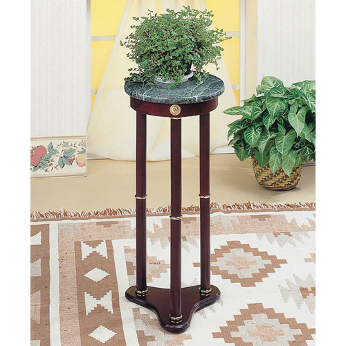 Coaster Furniture Green Marble Top Round Plant Stand