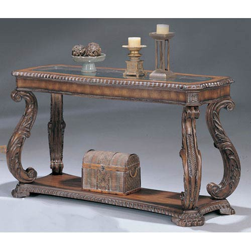 Coaster Furniture Doyle Traditional Sofa Table With Gl Inlay Top