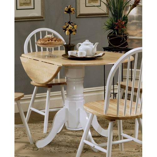 Damen Round Pedestal Drop Leaf Table