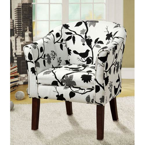 Coaster Furniture Birds And Flowers Upholstered Accent Chair