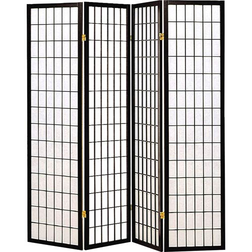 Coaster Furniture Three Panel Black and White Frame Screen