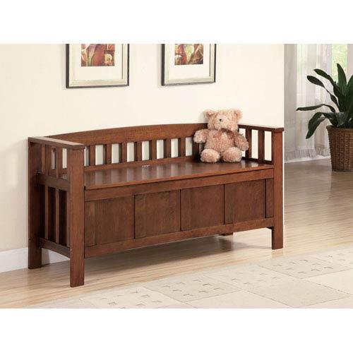 Coaster Furniture Walnut Wood Storage Bench
