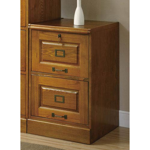 Palmetto Oak File Cabinet With Two Drawers