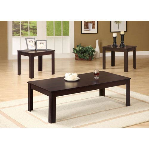 Coaster Furniture Casual Three Piece Occasional Table Set
