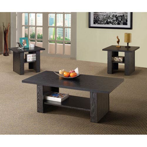 Coaster Furniture Contemporary Three Piece Occasional Table Set