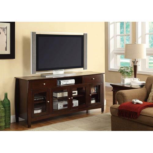 Dark Walnut Finish Connect-It TV Console